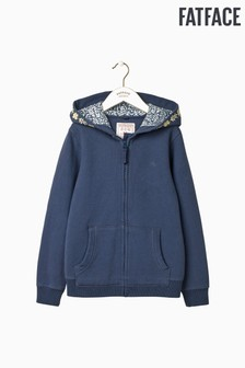 FatFace Blue Embroidered Popover Sweat