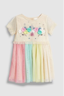 a1d3c7ee229 Unicorn Mesh Dress (3mths-7yrs)