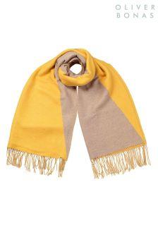 Oliver Bonas Yellow Diagonal Splice Yellow Scarf
