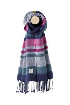 Joules French Navy Stripe Soft Handle Scarf