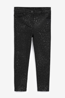 Animal Coated Skinny Jeans (3-16yrs)