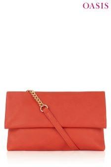 Oasis Orange Queenie Foldover Bag