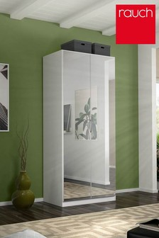 Cameron White Double Hinged Wardrobe by Rauch