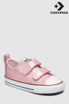 Converse Infant Pink Metallic Chuck Ox Trainer