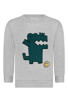 Boys Cotton Grey Sweatshirt