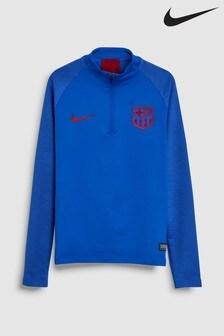 Nike Blue FC Barcelona Strike Drill Top