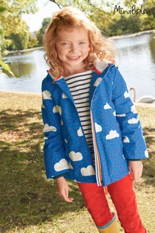 Boden Blue Jersey Lined Anorak