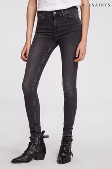 AllSaints Washed Black Gracie Jeans