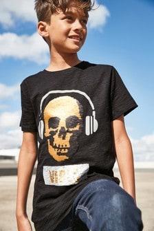Skull Sequin T-Shirt (3-16yrs)