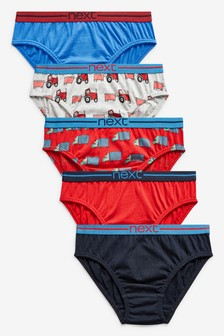 Transport Briefs Five Pack (1.5-8yrs)