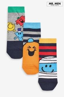 3 Pack Mr Men Socks