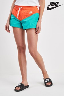 Nike Heritage Blue/Orange Colourblock Woven Short