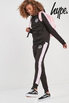 Hype. Black/Pink Jogger