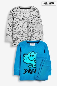 2 Pack Mr Men Snuggle Pyjamas (9mths-8yrs)