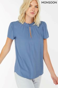 Monsoon Blue Wesley Blouse