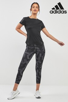 adidas Grey Printed Own The Run Leggings