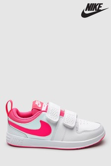 Nike White/Pink Pico Junior Trainers