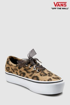 Vans Leopard Print Authentic Platform