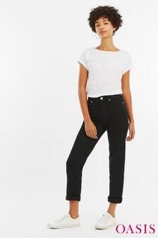 Oasis Black Ruby Petite Trouser