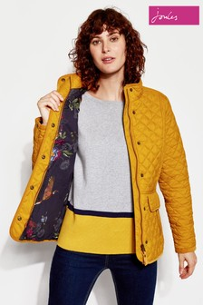 Joules Newdale Printed Quilted Coat