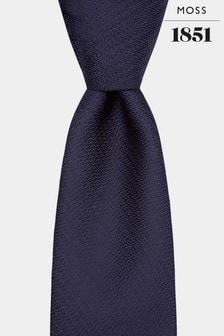 Moss 1851 Strukturierte Strick-Krawatte, marineblau