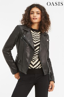 Oasis Black Leather Jacket