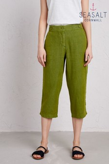 Seasalt Green Brawn Point Crop Trouser
