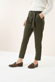 Tie Belt Taper Trousers