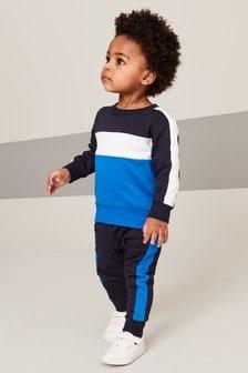 Ensemble haut multicolore et pantalon de jogging (3 mois - 8 ans)