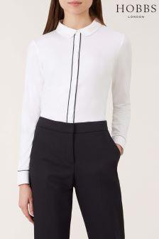 Hobbs Ivory/Navy Sasha Shirt