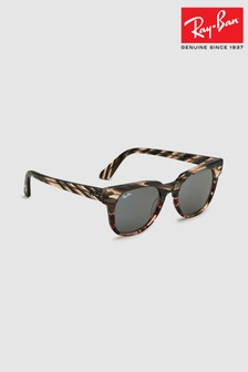 Ray-Ban® Grey/Brown Meteor Sunglasses