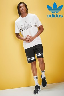 adidas Originals Black Outline Shorts