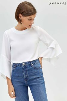 Warehouse Split Cuff Top