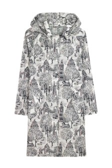 Cath Kidston® Grey London Toile Long Raincoat