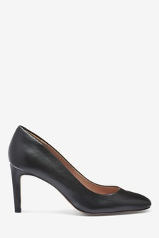 Leather Almond Toe Court Shoes