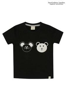 Turtledove London Black Organic Cotton Best Friends T-Shirt