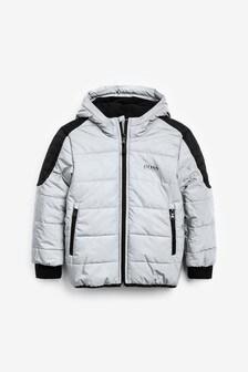 BOSS by Hugo Boss Grey Reflected Padded Jacket