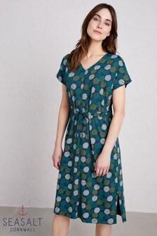 Seasalt Blue Field Poppy Dress