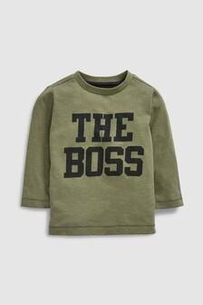 Long Sleeve The Boss T-Shirt (3mths-7yrs)