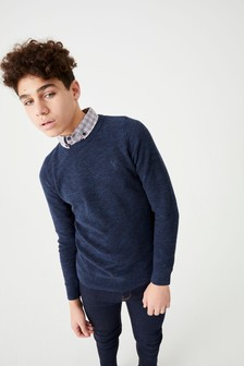 Jumper With Mock Shirt Collar (3-16yrs)