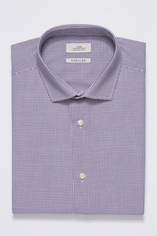 Pattern Short Sleeve Regular Fit Shirt With Pocket Square