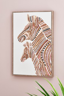 Beaded Zebra Canvas