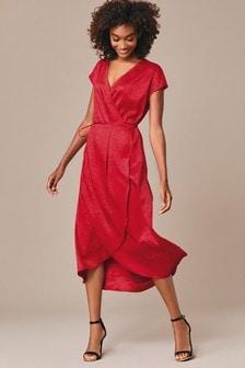 Жаккардовое платье с запахом Animal
