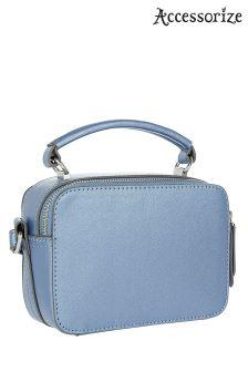 Accessorize Blue Shimmer Mini Vanity Bag