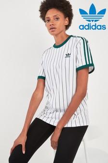 adidas Originals White/Green Boyfriend Tee