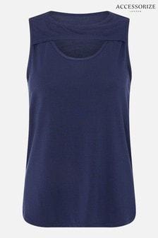 Accessorize Blue Cut-Out Vest Top