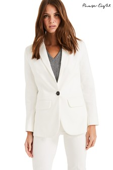 Phase Eight White Ulrica Suit Jacket