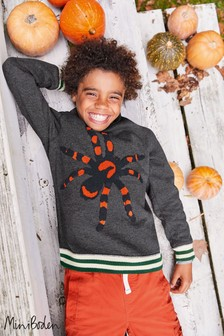 Boden Light Grey Spooky Sweatshirt
