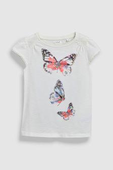 Butterfly Short Sleeve T-Shirt (3-16yrs)