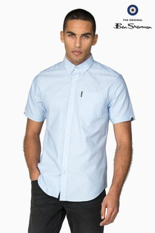 Ben Sherman Blue Short Sleeve Oxford Shirt
